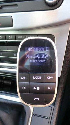 Test: Fm Transmitter, Tecboss Bluetooth KFZ Fm-Transmitter mit Mikrofon 2 Auto USB Ladeger?t, 3,5mm AUX-Eingang mit 1,44-Zoll-Display, TF Karte Slot f¡§1r Handy iPhone 7/7 Plus Samsung Galaxy S7/S6 Android Smartphones - Gold