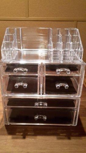Aufbewahrung Schubladen test songmics kosmetik aufbewahrung organizer schubladen acryl 24 x