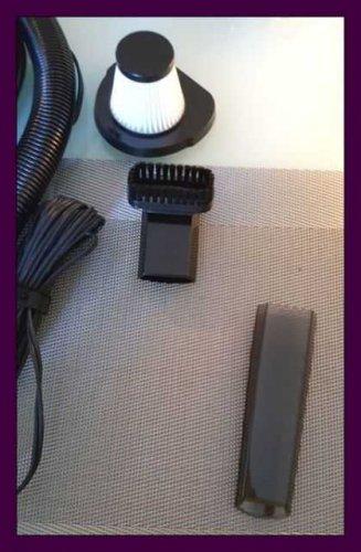 Test: Auto Staubsauger, HOTOR DC 12V 106W Wet & Dry Handstaubsauger für Auto, 14ft (5m) Netzkabel mit Tragetasche (schwarz)