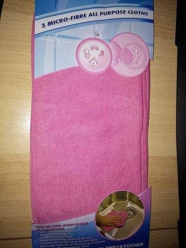 Test: Eurosell 3 Stück 30x30 cm Premium Microfaser Mikrofaser Reinigungstücher fusselfrei - Tuch Tücher