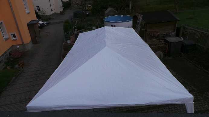 Test: MCTECH® 6 x 3m Festzelte Gartenzelt Pavillon Bierzelt Partyzelt Festpavillon inklusive 4 Seitenwände, 4 x Fenster, Wasserdicht PE Plane Camping Vereinszelt (Weiß, 6 x 3 m mit 4 Seitenwände)
