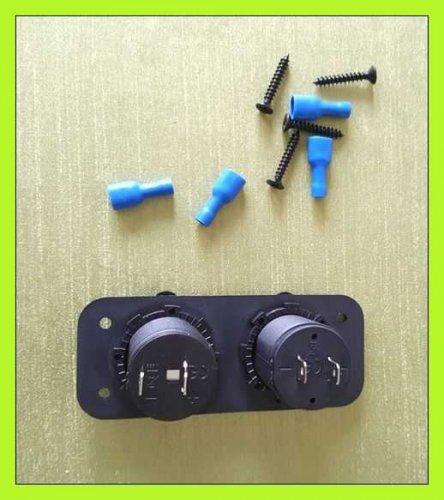 Test: USB Auto Steckdose, CHGeek 150W 12V/24V Auto Ladegerät 5V 4.2A 2 USB KFZ Zigarettenanzünder Verteiler Adapter Ladegerät mit LED Blaue Licht für Motorrad, Auto, Wohnwagen, LKW, Boot und mehr - CH17