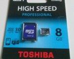 Test: Toshiba SD-C008UHS1(BL5A Class 10 microSDHC 8GB Speicherkarte