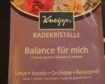 Test : Kneipp Badekristalle Balance für mich