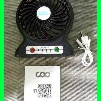 Test: Tischventilator, COO Mini USB Ventilator mit auch Power bank Funktion, gilt für Reise, Zuhause, Büro und Schreibtisch (Schwarz)