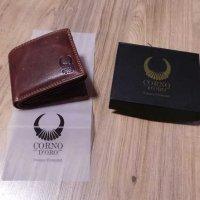 Test: Herren Geldbörse Leder mit RFID Blocker geräumiges Portemonnaie Brieftasche Portmonee vintage Geldbeutel mit Münzfach Wallet in Geschenk-box Echt-Leder Kartenetui braun von Corno d´Oro 32010W