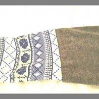 Test: Nlife Frauen lange Ärmel Scoop Neck Bluse Geometrische Grafiken Henley T-Shirt