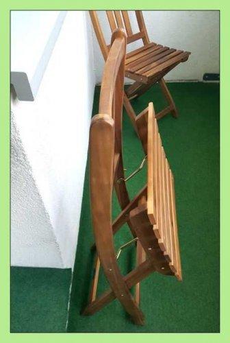 Test: SAM® Gartengruppe, 3tlg., Balkongruppe aus Akazienholz, FSC® 100% zertifiziert, 1 x Tisch + 2 x Stuhl, geölt, Garten-Tischgruppe, schöne Maserung, massives Holz, klappbar, Sitzgruppe aus Akazien-Holz [521351]