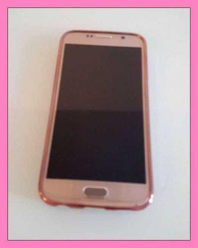 Test: Samsung Galaxy S6 hülle, Uiano® Chips Stücke funkelnd Bling Funkeln ultradünne Galvanotechnik weicher Gel TPU Silikon Rückseiten TPU Tasche Schutzhülle Hülle Abdeckung für Samsung Galaxy S6 [Rosen Gold]