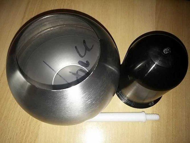 Test: Luxus – Toilettenbürste aus bester Keramik und Edelstahl (silber)