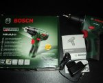 "Test: Bosch PSR 10,8 LI Akku-Bohrschrauber ""Easy"" + Doppelschrauberbit + Akku und Ladegerät + Koffer"