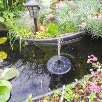 Test: Solar Teichpumpe, ikalula Solar Wasserpumpe, 7V 1,4W Solar Springbrunnen für Gartenteich Springbrunnen Fisch-Behälter Kleiner Teich - Schwarz