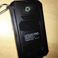 Test: X-DNENG Solar-Ladegerät 10000mAh Wasserdicht Solarstrom-Ladegerät Externer Akku-Pack und SunPower-Solarmodule Ladegerät Dual USB Charger mit LED-Taschenlampe - Orange